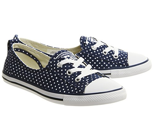 Converse Women's Chuck Taylor Ballet Lace Low-Top Slippers Navy White vXTe31sZ