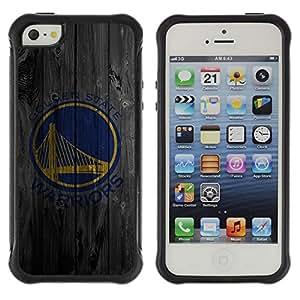 Suave TPU GEL Carcasa Funda Silicona Blando Estuche Caso de protección (para) Apple Iphone 5 / 5S / CECELL Phone case / / Golden Warriors Sports Team /
