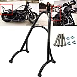Kawayee Motorcycle Black Short Passenger Sissy Bar Backrest For Harley Sportster Iron 1200 883 XL 2004-2015