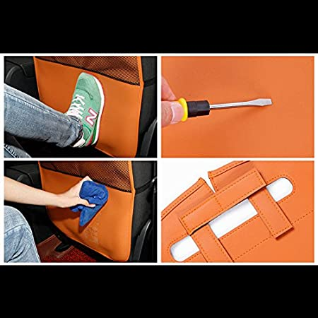 HONCENMAX Patada Estera Coche Asiento Trasero Protector Impermeable F/ácil de Limpiar Multifuncional Organizador Bolsa de Almacenamiento Accesorio de Viaje 2 Paquetes