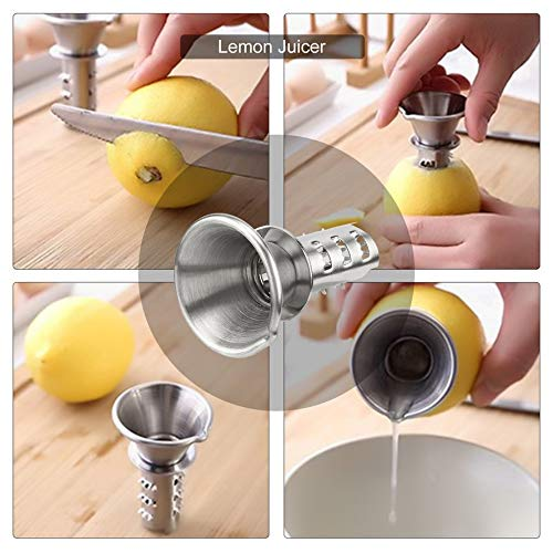ningbao951 Mini 304 Stainless Steel Lemon Juicer Household Manual Lemon Drilling Tools Kitchen Small Fruit Squeezer Juice Extractor