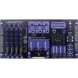 VocoPro KJ-7808RV Professional KJ/DJ/VJ Mixer with DSP Mic Effect and Digital Key Control