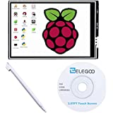 ELEGOO For Raspberry Pi 3 2 TFT LCD Display, 3.5 Inch 480x320 TFT Touch Screen Monitor for Raspberry Pi Model B B+ A+ A Module SPI Interface with Touch Pen SC06