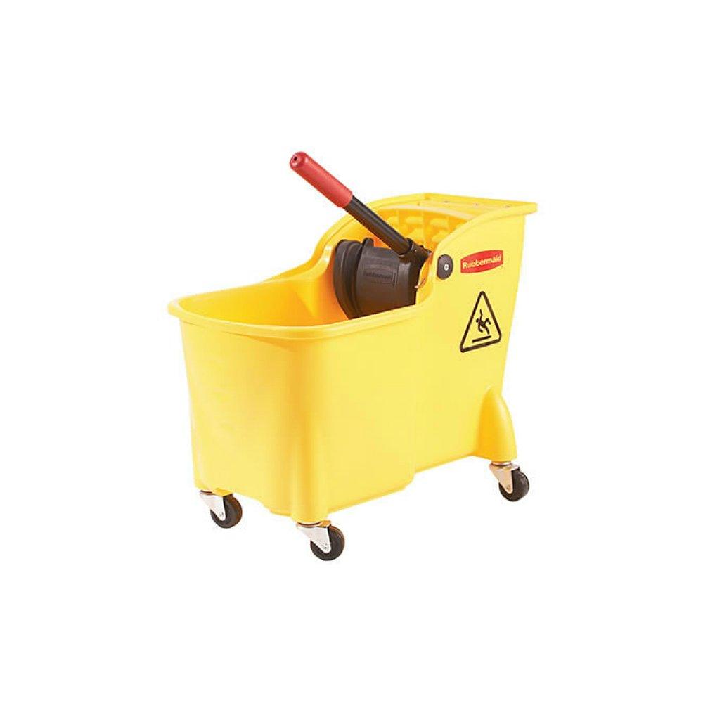 Rubbermaid Professional Plus Commercial Wringer Mop Bucket, 28 qt. (FG728100YEL)