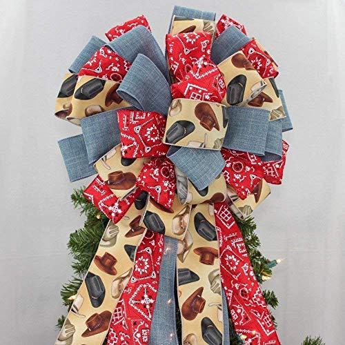 estern Christmas Tree Topper Bow - 14