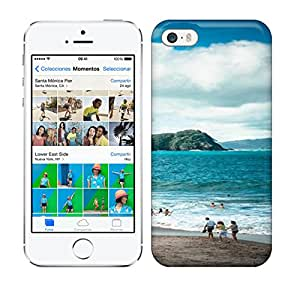 Best Power(Tm) HD Colorful Painted Watercolor Beautiful Sea And People On The Holiday Hard Phone Case For Iphone 5/5S
