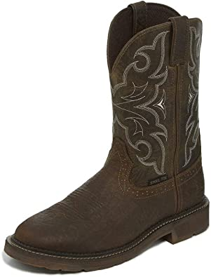 Justin Boots Company Mens Stampede Choc