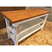 Hallway / Mud Room / Foyer Bench 30 Increased Width With Two Shoe Shelves