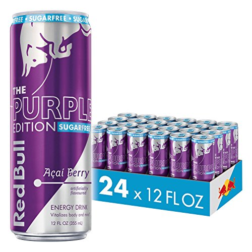 (Red Bull Energy Drink, Sugar Free Acai Berry, 24 Pack of 12 Fl Oz, Sugarfree Purple Edition)