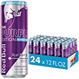 Red Bull Energy Drink Sugar Free Acai Berry 24 Pack 12 Fl Oz, Sugarfree Purple Edition