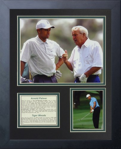 Legends Never Die Arnold Palmer and Tiger Woods Collage Photo Frame, 11