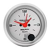"""Auto Meter 4385 Ultra-Lite 2-1/16"""" 12 Volt Short Sweep Electric Clock Gauge"""