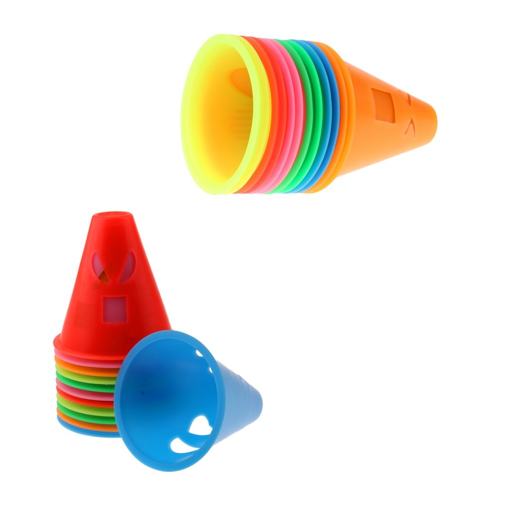 Baosity 24 Pcs Assorted Color Expressions Style Roller Skating Skateboard Cones Pile Cup
