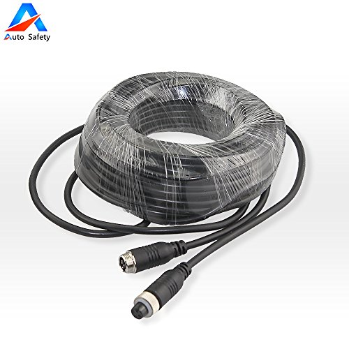 Auto Safety Car Video Extension Cable 2 Pcs 15M 49ft 4pin Aviation Video Extension Cable for Car Rear Vehicle Backup Camera System