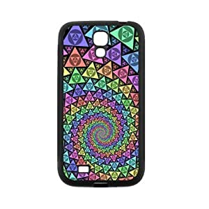 Colorful Vortex Pattern Protective Rubber Back Fits Cover Case for SamSung Galaxy S4