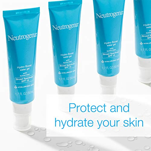 Neutrogena Hydro Boost Hydrating Hyaluronic Acid Gel Cream Moisturizer With SPF 15 Sunscreen, Daily Oil-Free and Non… 2