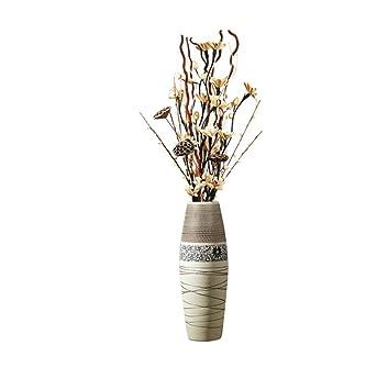 Amazon.de: SYHPDT Keramikvase, für Wohnzimmer, Landung, große Vase ...
