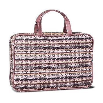 Amazon Com Sonia Kashuk Cosmetic Bag Weekender Broken Houndstooth