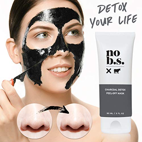 No B.S. Charcoal Peel Off Mask - No Hype, No Fad Deep Cleaning Blackhead Remover Mask