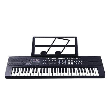 JUFENG 54 Teclas Teclado Electrónico Piano Música Juguete con Micrófono Electone Niños Enchufe De La UE,Black: Amazon.es: Hogar