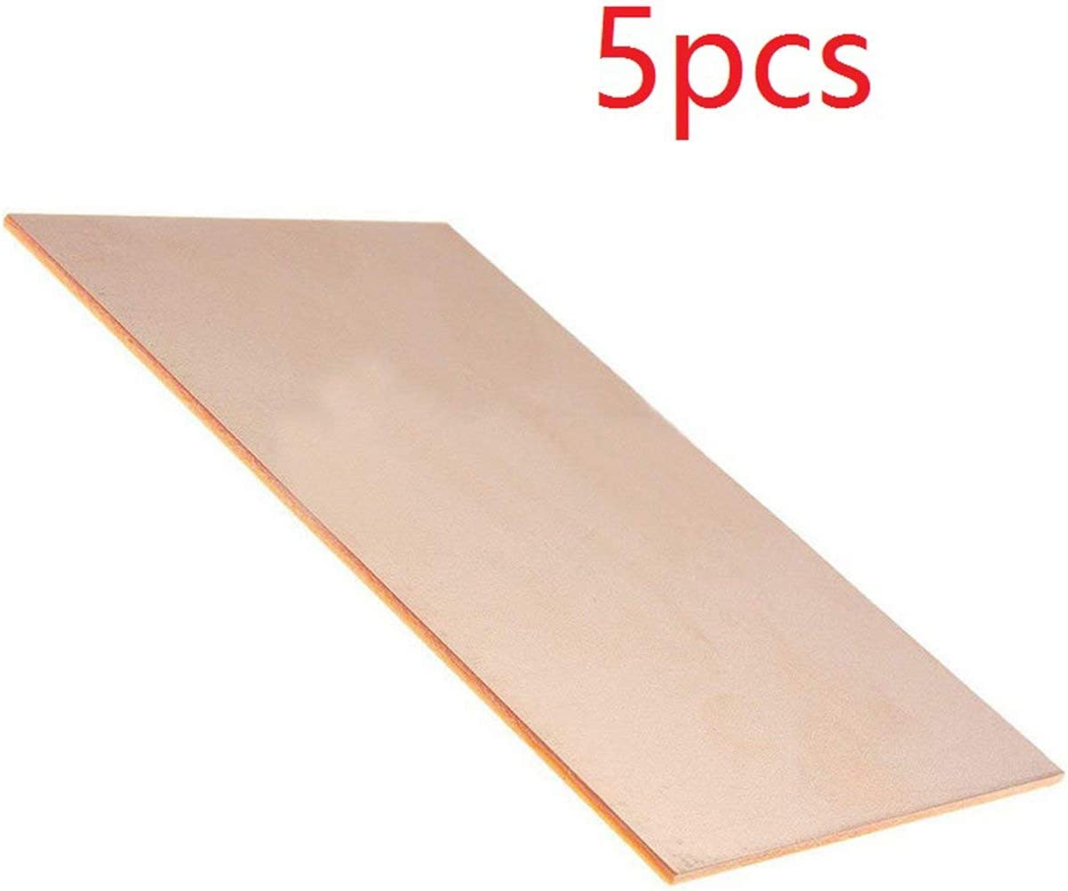 naranja 10 cm placa de placa de circuito unilateral placa de cobre laminada PCB Universal reforzado con fibra de vidrio cobre MXECO 5 PC Unid 7
