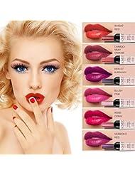 6 set Wine Bottle Lip gloss Tint Water Proof Lipstick...