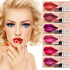 ❤Natural Formula: Vitamin E, beeswax, vegetable oil and other natural ingredients, natural beeswax lock water to achieve a long-lasting moisturizing effect, you get a beautiful and attractive matte lip color the moment.       ❤Variety ...