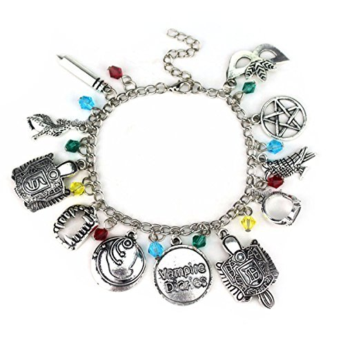 BlingSoul The Vampire Diaries Charm Bracelet Merchandise - The Vampire Diaries Jewelry For Women (Vampire Diaries Costumes For Halloween)