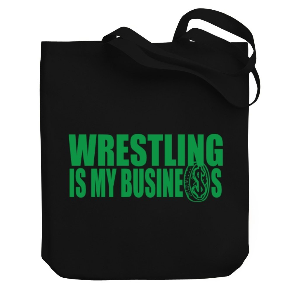 Teeburon Wrestling , IS MY BUSINESS Canvas Tote Bag