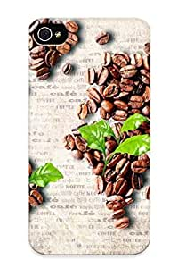 [LiBOrfM422unoNR] - New World Map From Coffee Beans Protective Iphone 4/4s Classic Hardshell Case