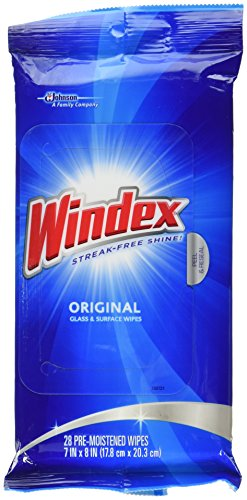 (Windex Original Glass and Surface Wipes, 28 Count)