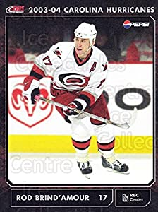 (CI) Rod Brind'Amour Hockey Card 2003-04 Carolina Hurricanes Postcards 6 Rod Brind'Amour