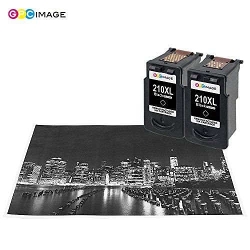 GPC Image 2 Black Remanufactured Ink Cartridge (InkLevel Chip) Replacement for Canon PG-210XL 210XL 210 XL High Yield (2 Black) for Canon PIXMA iP2702 MP495 MP240 MX410 MP280 MP480 MX360 MX420 Printer Photo #6