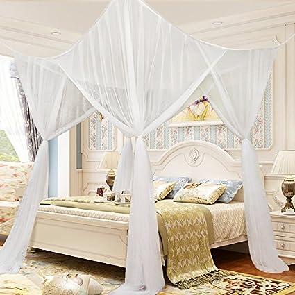 Amazon.com: Nova Microdermabrasion 4 Corner Post Mesh Bed Canopy ...