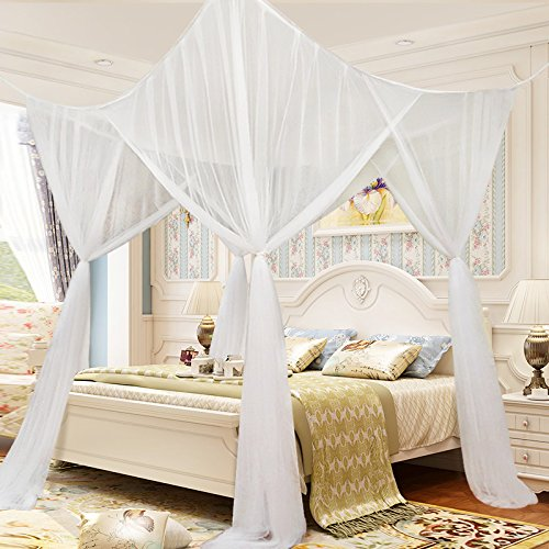 tangkula 4 corner post bed