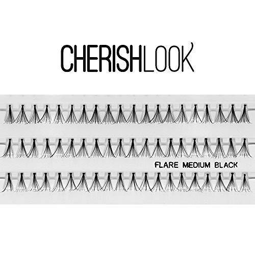 Cherishlook Professional 10packs Eyelashes - Flare Medium Black