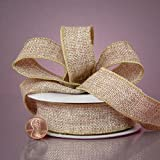 Ribbon Best Deals - Natural Burlap Ribbon, 7/8