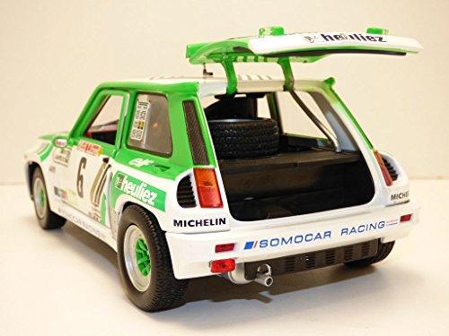 Amazon.com: Solido 1/18 Scale Model Car - S1801303 Renault 5 RS Turbo Gr.B Rallye de Lozere: Toys & Games