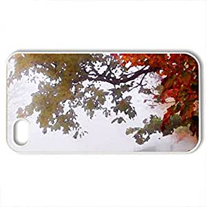 Autumn colors... - Case Cover for iPhone 4 and 4s (Fields Series, Watercolor style, White)