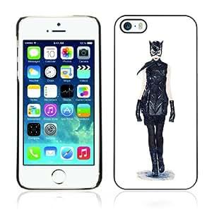 CaseCaptain Carcasa Funda Case - Apple iPhone 5 / 5S / Cat Bat Superhero Art Painting /