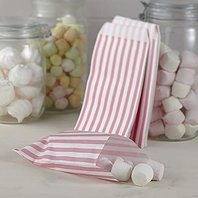 Bolsas de papel rosa/blanco rayas para sus Candy de bar o de ...