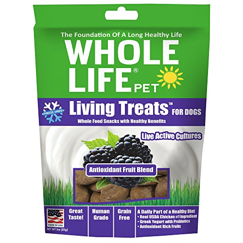 Whole Life Pet Products Freeze Dried Antioxidant Fruit Blend Treat for Dogs, 3 oz -