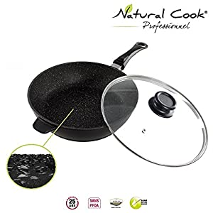 natural cook professionnel sauteuse en pierre granit et c ramique tous feux dont induction. Black Bedroom Furniture Sets. Home Design Ideas