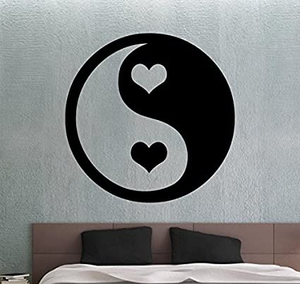Yin Yang Wall Sticker Vinyl Decal Chinese Decor Home Wall Decoration ...