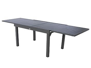 Extensible Alu GraphiteJardin 610 Table Places Piazza SMqUzVGp