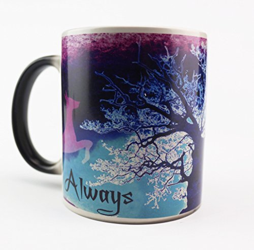YANBA Morphing Mugs Heat Sensitive Cup Fun Birthday Gift Ceramic Mug (Purple Tree)