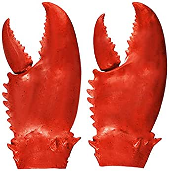 Valentoria Funny Lobster Crab Claws Gloves Weapons Cosplay Amor Halloween Costume Props Novelty DIY Toy for Kids - Red - Large