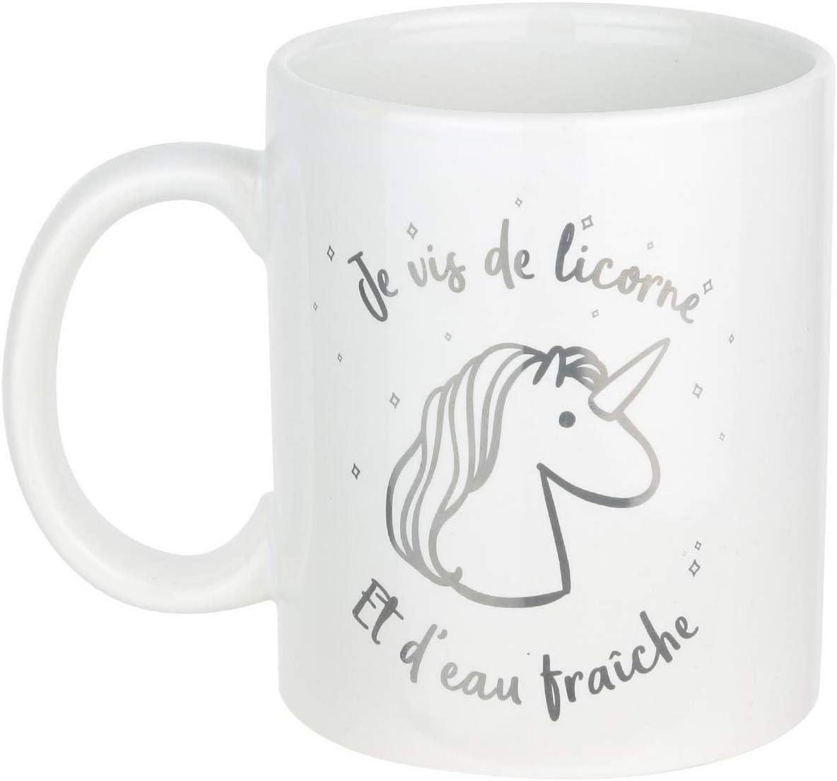 kdosublim Mug Noir Je men Fous Je suis Une Licorne Dab