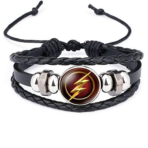 Marvel Supper Heroes Bracelet Captain America Batman Superman Leather Bracelet -