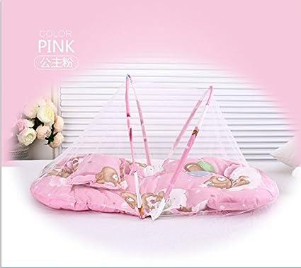 weimay tienda mosquitera beb/é plegable port/átil multifunci/ón cama de beb/é viaje 110/x 60/x 38/cm Rosa Talla:110 x 60 x 38 cm